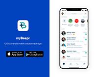 myBeepr App Redesign