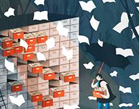 Fallimenti a rischio caos -Illustration