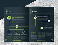 Corporate Brochure Design With Free Mockup