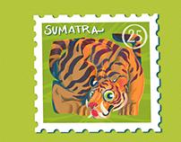 Sumatran Tiger Stamp