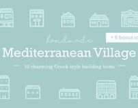 Handmade Mediterranean Village Icons