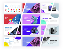 Bold Presentation Template / 3 Color Schemes