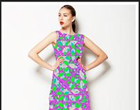 Modern Geometric Check Pattern Textile Pattern