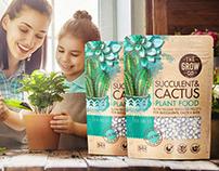 Flowers & Plants Fertilizer family, packaging design