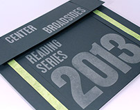 Center Broadsides Reading Series