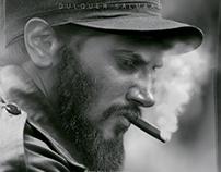 Dulquer as Fidelcastro -Figure making manipulation