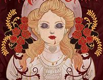 Dracula Book Cover Illustration