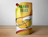 Mango juice packet