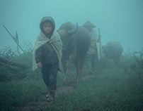 H'mong and Red Dao children of Lao Cai Vietnam