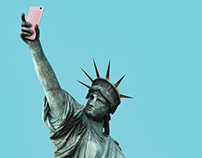 The Selfie of Liberty Poster