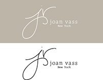 Hand Lettered Initials for Joan Vass Fashion Brand