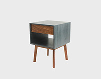 Aria Drawer Nightstand gray