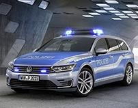 VW Passat GTE Policecar