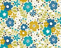 Blue Green Floral | Surface Design