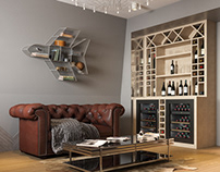Stylish interior for an aircraft enthusiast