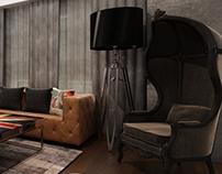 AL Tagmooa Villa - Roof Room design