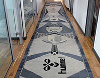 Hummel headquarters gigant carpet