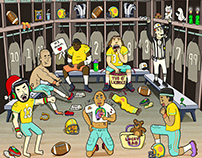 """New York Times """"Rituals Fit for the Football Gods."""""""
