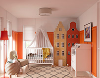 Childroom. Interior design and visualization.