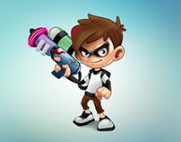 Spam Blaster Mascot Design
