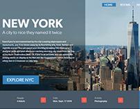 Adobe XD Challenge Day 2 - City Landing Page