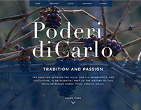 Poderi di Carlo website