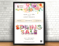 Spring Sale poster for Cotton Squere