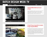 Dutch Design Week TV - WordPress website