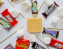 Halloween Candy S'mores (Photography)