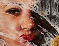 Olio su Tela - quadro ripreso da Alyssa Monks