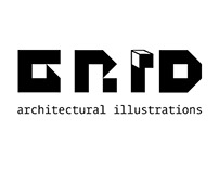 GRID (architectural illustrations) logotype