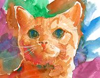 CAT in Watercolor