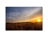 Grinnell's Prairie – photo essay design