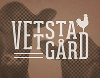 Logo and brand identity for Vettsta gård in Sweden