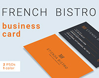 French Gourmet Bistro- Business Card Template