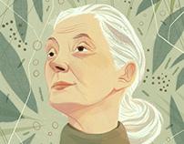 Jane Goodall Portrait