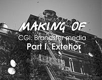 Making of CGI: Brandster media. Part I. Exterior