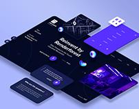 """Reinvent"" digital conference webpage"