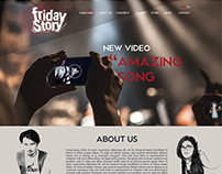 Friday Story band web site