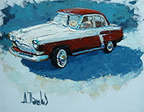 Motorman dream Oil on canvas