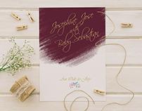 Narnia Themed Wedding Invitation | Burgundy Wedding