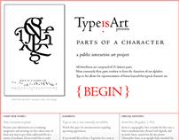 Type Is Art: a public interactive art project