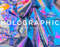 Holographic Crumbled Foil Backgrounds