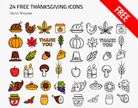 Free Thanksgiving Day Icons Templates in EPS + PSD