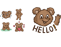 Russian Bear Sticker Pack