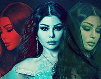 Haifa Wehbe for Al Herbaya series
