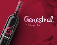 Genestral etiqueta de vino