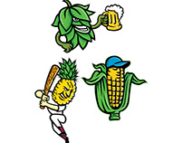 Fruits and Vegetables Mascot Collection