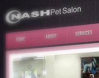 Nash Pet Salon Menus & Web Design