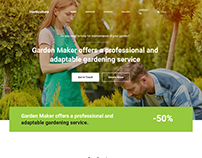 Horticulture WordPress Landing Page